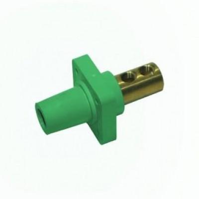 Detalhes do produto Cam Lock Painel Femea 400A - Verde S/ Parafuso
