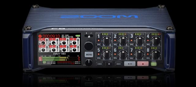 Gravador Audio de 8 Canais F8 da ZOOM